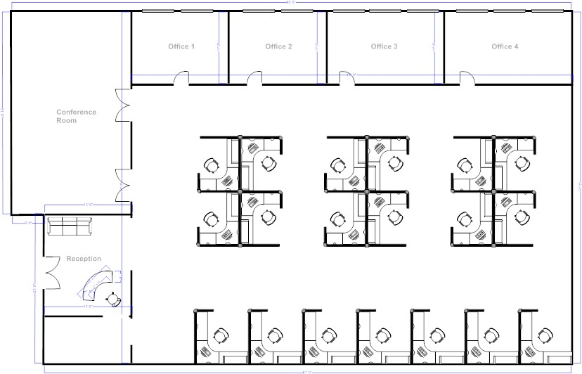 Office Cubicles Layout Cubicle Furniture For on design ideas likewise small offices layouts floor plan open