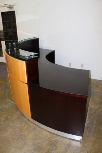 Used Reception Desk Custom Built Cubicles