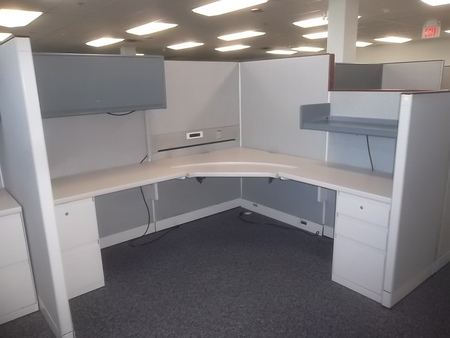 Steelcase 9000 Enhanced Workstation Cubicles 65 Dropping On The Wings To 53