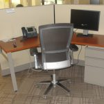 Used Knoll 120 degree workstations