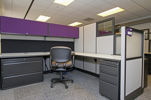 Used Haworth Places Cubicles In Houston Texas, 8X8