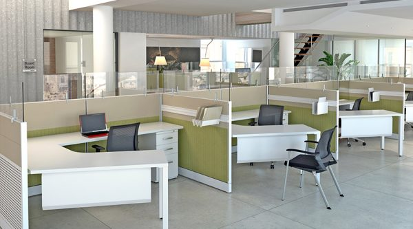 Benefits of an open office cubicle concept used cubicles for New office design concept