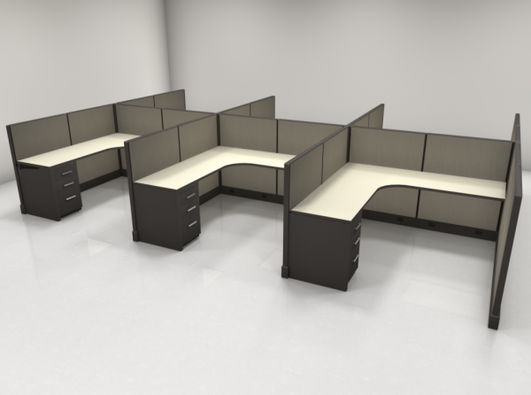 6X6 47″ High Cubicles with One File