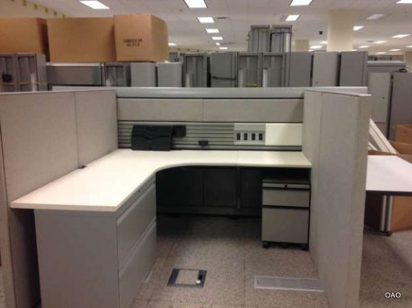 Knoll Currents 6x6 Low Wall Used Cubicles