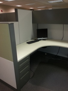 Steelcase Answer 6X8 with Drop Down