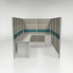 6×8 67″ Tiled Cubicles with Two Files